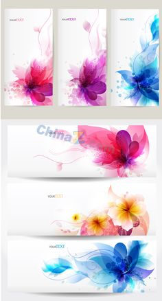 Beautiful patterns and creative banner design vector graph