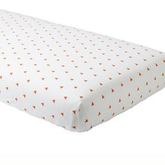 Little Prints Crib Fitted Sheet (Orange Triangle)  | The Land of Nod