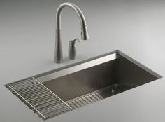 10 Pictures That Will Change Your Mind About Stainless Steel Sinks: Smart Angles With This Kohler 8 Degree Stainless Steel Sink