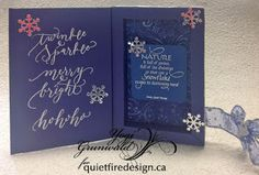 Box Frame Card: excellent tutorial for an unusual & elegant card.