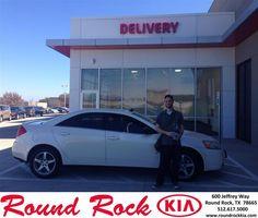 https://flic.kr/p/Dk88Vp   Happy Anniversary to Christopher on your #Pontiac #G6 from Jorge Benavides at Round Rock Kia!   deliverymaxx.com/DealerReviews.aspx?DealerCode=K449