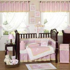 Pink Dragonfly Dreams by JoJo Designs - Baby Crib Bedding - pinkdragonflydreams-9