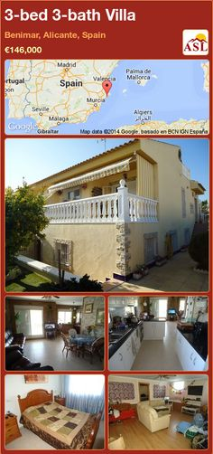 3-bed 3-bath Villa in Benimar, Alicante, Spain ►€146,000 #PropertyForSaleInSpain