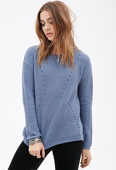 Textured Open-Knit Sweater | FOREVER 21 - 2052289821