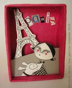 kristel arzur1_ilustracion 3D en caja de carton