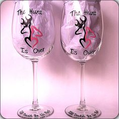 The Hunt Is Over hand painted glass set by DanielleFigueroaArt, $28.00
