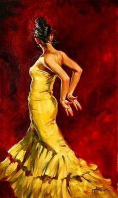 Flamenco Dancer by Andrew Atroshenko.
