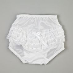 Bloomers with Satin Trim and Ribbon