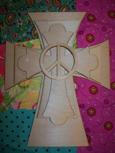Peace sign wall cross