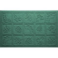 "Bungalow Flooring Aqua Shield Nature Walk Doormat Color: Orange, Rug Size: 18"" x 28"""