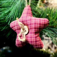 игрушка на елку из ткани, шитые елочные игрушки, мягкие елочные украшения, звезда на елку