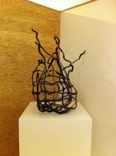 Lina Jane Prairie woven kelp sculpture.