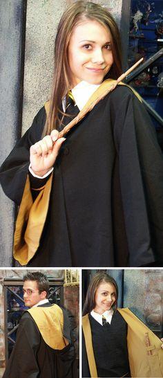 Hufflepuff Robe - with a wand pocket inside! :)