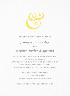 Ampersand Invitation card by Hello!Lucky on Postable.com