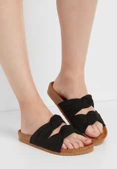 Comfortable and durable genuine leather open toes navy dark blue side decoration buckles slippers all sizes 3 4 5 6 7 8