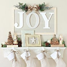 joy christmas mantel shelf dont have a fireplace mantel update a