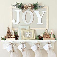 joy christmas mantel shelf dont have a fireplace mantel update a