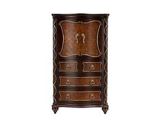 Get the storage space you need and the high design you crave with the Palazzo bedroom chest. Each drawer and door is embellished with raised scrollwork, inlaid burled cherry veneers and intricate hardware to bring the look of a sumptuous Italian palace to your bedroom.