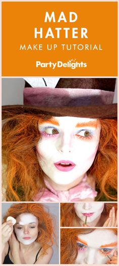 Whether you're looking for World Book Day costume ideas for teachers or Halloween costume ideas, check out our Mad Hatter face paint tutorial to find out how to recreate the make-up of this crazy character from Alice in Wonderland! Book Costumes, Mad Hatter Costumes, Up Halloween Costumes, World Book Day Costumes, Book Character Costumes, Book Week Costume, Halloween Makeup, Family Halloween, Halloween Ideas
