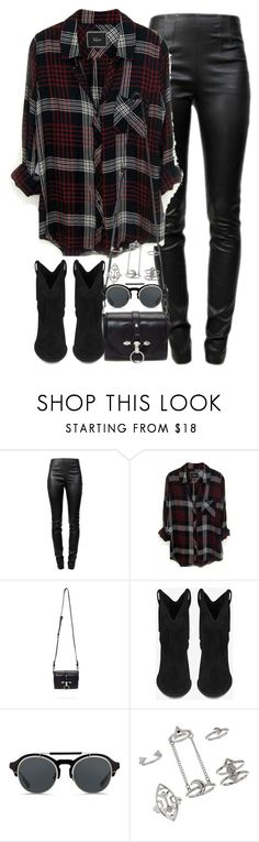 """Untitled #3416"" by maddie1128 ❤ liked on Polyvore featuring Alexander Wang, Rails, Givenchy, Yves Saint Laurent, KRISVANASSCHE and Topshop"