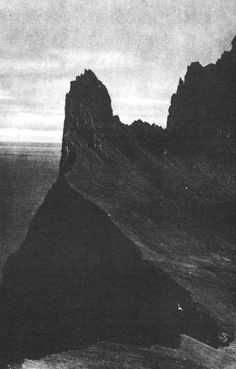 """Roni Horn, Hornbjarg, Iceland """"At the Mountains of Madness"""""""