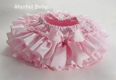 Pink All Around Ruffle Sassy Pants Diaper Cover by SherbetBaby, $45.00