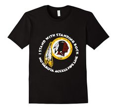 Men's I Stand With Standing Rock #Nodapl MNI WICONI T-shirt 3XL Black