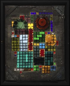 The School of Bauhaus / Josef Albers, Untitled, 1921 Glass, wire, and metal, set in a metal frame.