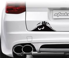 Jackey Awesome 1 X Peeking Monster Scary Eyes Car Decal / Sticker for Laptop Ipad Window Wall Car Truck Motorcycle (Theft, Black)