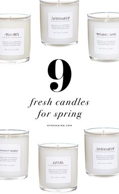 Candles you need to have your home smelling like spring in no time // Lauren Conrad and The Little Market