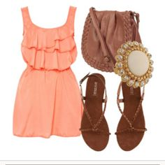 coral and cognac.. two of my favorite colors to wear :)
