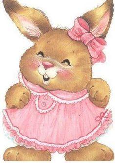 papers.quenalbertini: Cute Vintage Easter Bunny Girl   Facilisimo