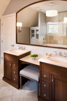 master bathroom vanities double sink with makeup | Vanity ... on ice fairy makeup ideas, makeup organizer ideas, bathroom makeup table, bathroom vanity with makeup area ideas,