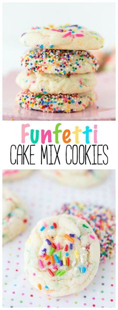 Funfetti Cake Mix Cookies | Cookies | Cake Mix Recipe | Cake Mix | Birthday | Desserts |