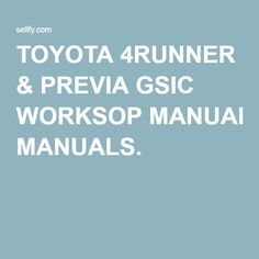 Toyota Corolla Repair Manual Pdf