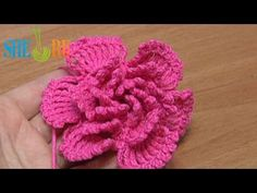 ▶ How To Crochet Big Petal Layered Flower Tutorial 34 - YouTube
