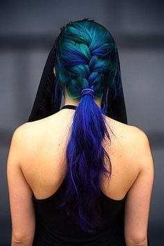 I am so close to being obsessed enough with Percy Jackson to dye my hair like this