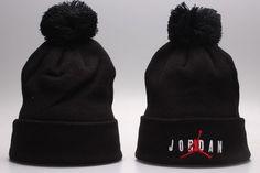 Air Jordan Winter Outdoor Sports Warm Knit Beanie Hat Pom Pom Jordan Cap 4d08fa30019a