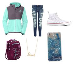 """Time for school"" by destiny-huerta29 ❤ liked on Polyvore featuring The North Face, Current/Elliott, Converse and Sydney Evan"