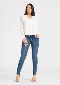 579d61d9e9a Tall Emma Booty Enhancer Skinny Jeans. Curve hugging jeans for Tall Women  at Alloy Apparel