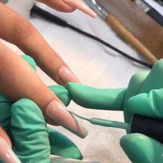 my insta: immysheraz✨ Perfect Nails, Gorgeous Nails, Pretty Nails, Diy Acrylic Nails, Summer Acrylic Nails, Nail Art Designs Videos, Nail Designs, Nail Techniques, Long Nail Art