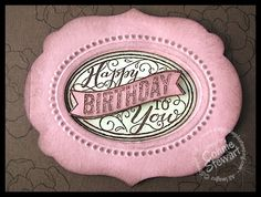 Simply Simple FLASH CARDS Designer Frames Birthday Card - Video No. 28 | Simply Simple Stamping