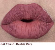 "Kat Von D liquid lipstick in ""Double Dare"""