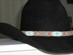 Western Beaded Cowboy Hat Band by WesternWoman21 on Etsy, $60.00