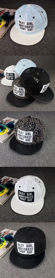 Trendy Men's Women's Lace Baseball Snapback Hat Hip-hop Sports Outdoors Cap Adjustable