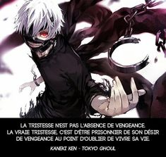 Sadness is not the absence of revenge. The real sadness is to be trapped in your desire for revenge to the point of forgetting to live your life. Manga Anime, Sad Anime, Cute Anime Boy, Anime Boys, Manga Tokyo Ghoul, Ken Tokyo Ghoul, Kaneki, Yes Man, Miyavi
