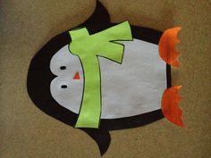 Kindergarten art penguin