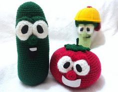 ALL SORTS OF GREAT FREE PATTERNS! - Homemade Obsessions: Cucumber Crochet Pattern Inspired by Veggie Tales