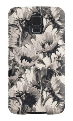 """Sunflowers in Soft Sepia"" Samsung Galaxy Cases & Skins by micklyn 