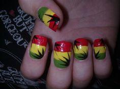 Rasta nail design